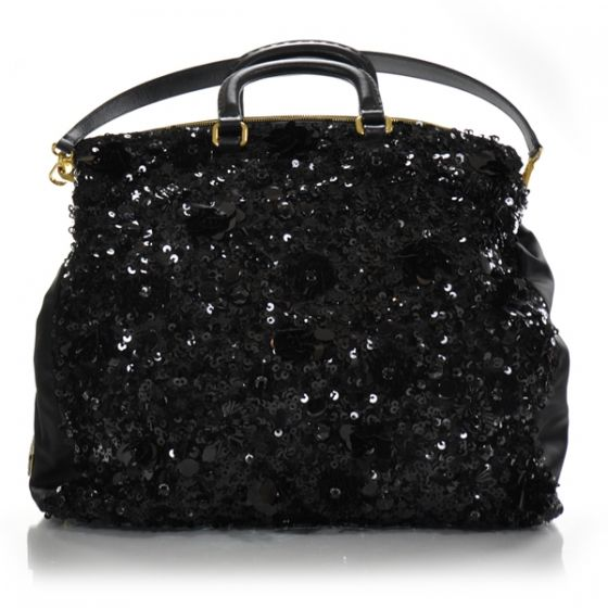 Valentino Silk Satin & Leather Sequined/ Crystals Clutch/ Shoulder Bag / Sale SXFlo2wBfb