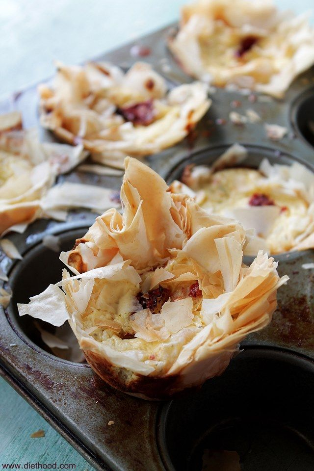 Sun-Dried Tomatoes & Cheese Cups   www.diethood.com   #recipe #appetizer #cheese