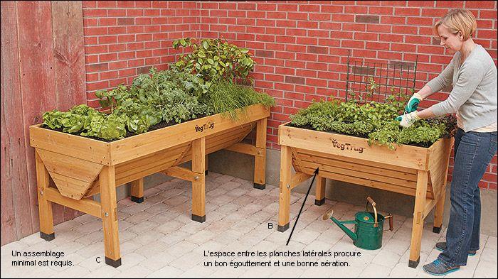 1000 images about bac jardinage en hauteur sur pinterest for Table de jardinage en hauteur