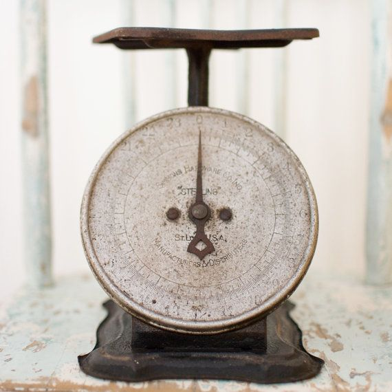 Vintage Rustic Kitchen Scale