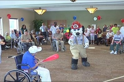 Games With A Ball For Senior Residents Of Nursing Home 30
