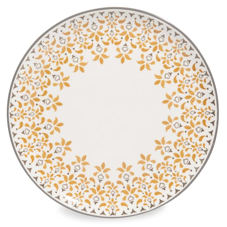 GIPSY mustard yellow faience dinner plate D 27 cm   - Sold in sets of 6