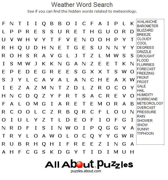 Print Out These Fun Word Search Puzzles