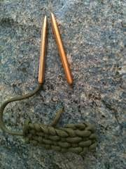 How to make needles for working with paracord.
