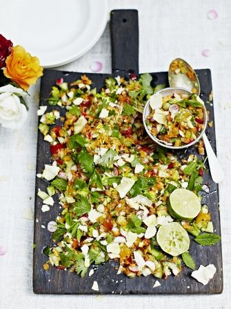 Indian chopped salad | Jamie Oliver                                                                                                                                                      More