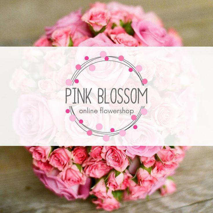 Flowershop logo.  #logo #logodesign #creativelogodesign #flowershoplogo #flowerlogo #pinklogo
