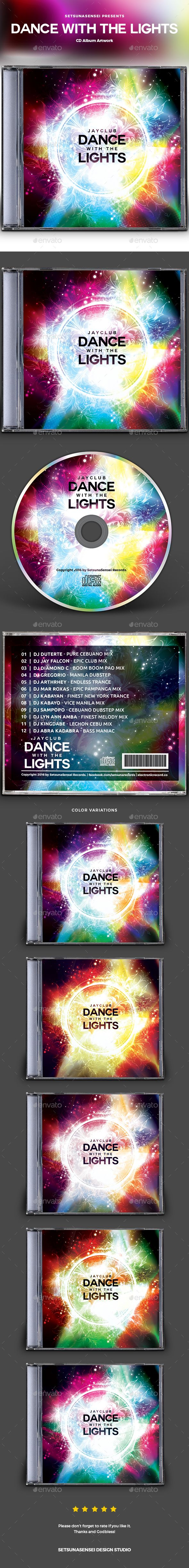 Dance with the Lights CD Album Artwork - CD & DVD Artwork Print Templates