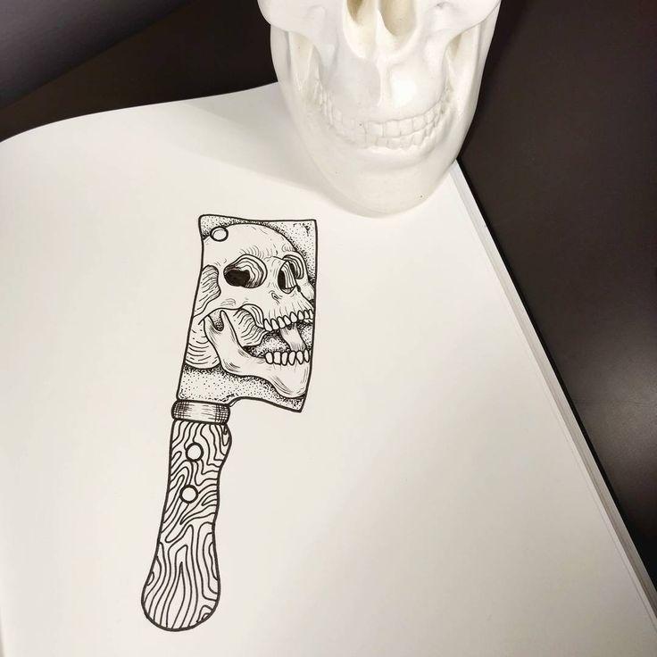Картинки череп с ножами