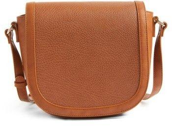 Sole Society Finnigan Faux Leather Crossbody Bag - Brown