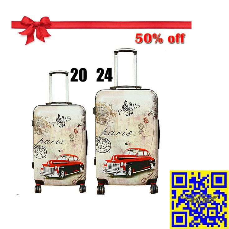 The 2015 largest discount! 12.16—12.31 Christmas sales! All luggage suitcases in E-bay American site with 50% off! Don't miss it!! http://stores.ebay.com/shxq2015 http://www.ebay.com/itm/Travel-Luggage-Suitcase-Trolley-Universal-Wheels-Vintage-Printing-20-24-inches-/252186561048?