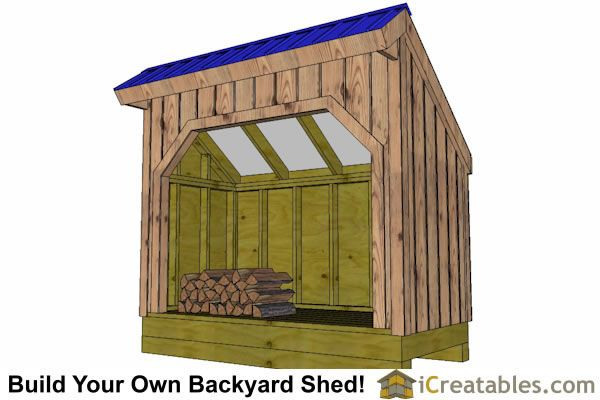 4x10 firewood shed partition