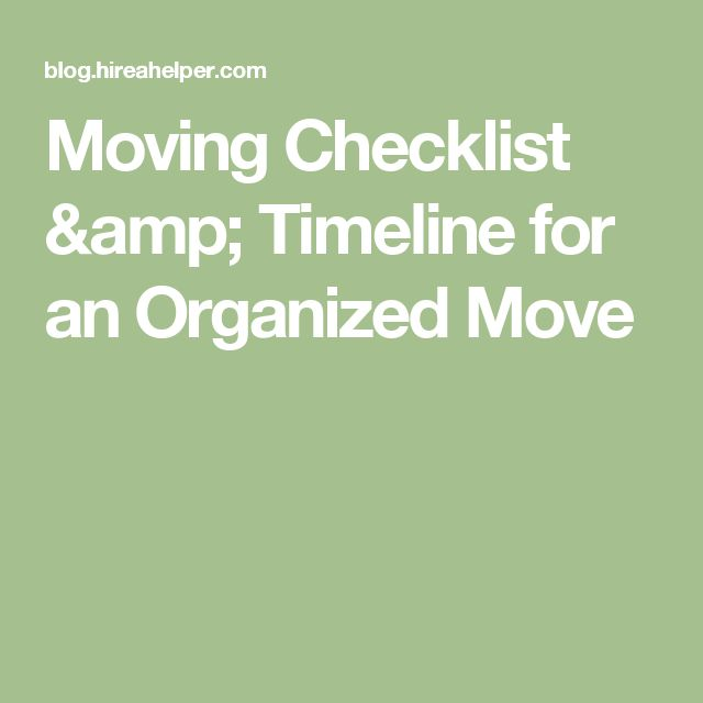 House move planning checklist