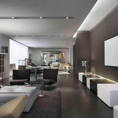 Die Besten 25+ Decke Aus Gipskartonplatten Ideen Auf Pinterest ... Moderne Wohnzimmer Decken