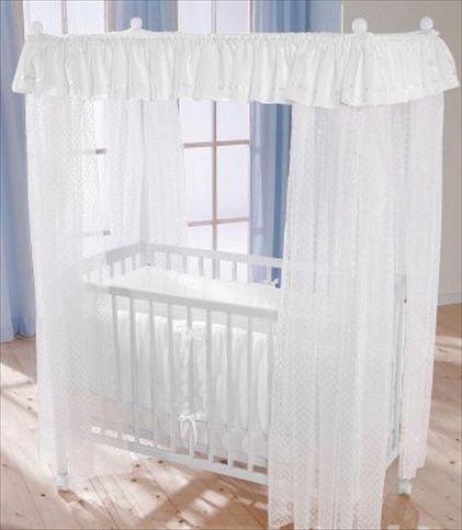 LEIPOLD Himmelseng med madrass og hvit sengetøy. Frifrakt Kr 4999