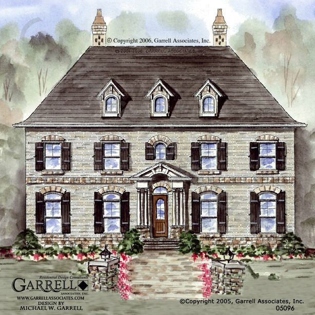 garrell associates inc cambridge manor house plan 05096