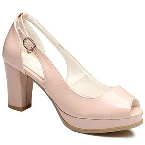 Trendy Faux Leather Peep Toe Ladies Shoes,Cheap Trendy on Sale!