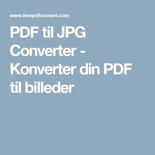 PDF til JPG Converter - Konverter din PDF til billeder