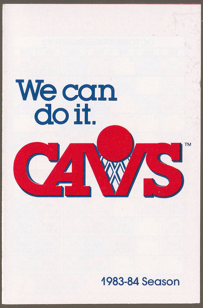 1983-84 CLEVELAND CAVALIERS MICHELOB BASKETBALL POCKET SCHEDULE FREE SHIPPING