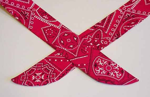 Cooling Bandana Heavy Duty Red Neck Cooler Stay COOL Tie Wrap Body Head Heat Relief Cooling Bandana iycbrand on Etsy, $12.99