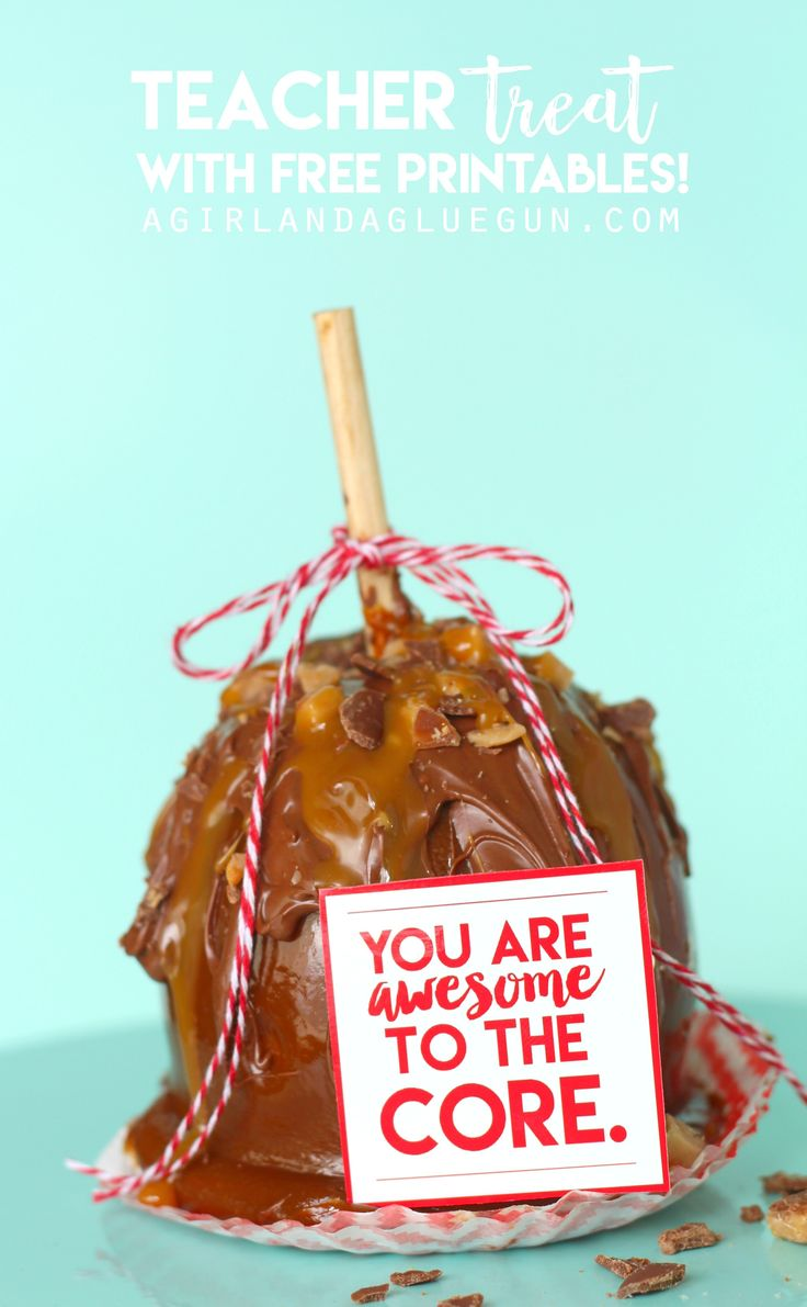 I am in deep love with these gourmet caramel apples! They are all kinds of tasty (and totally good for you–because an apple is a fruit! Ha!)  They make a perfect gift –wrap up them and add a fun printable! and lucky for you–I have 4 fun apple printables for you!   I just …