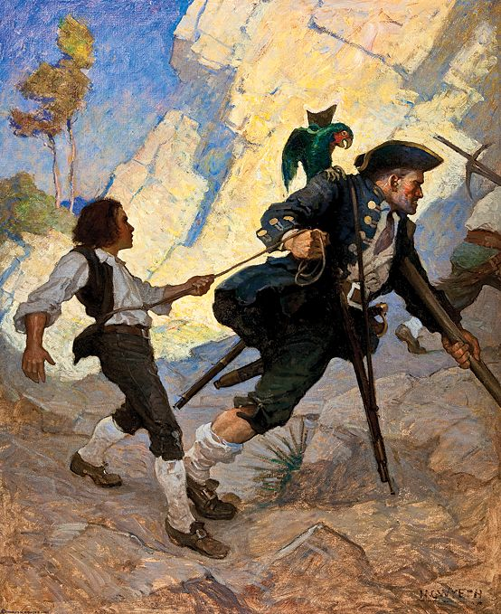 Fig. 1: N. C. Wyeth (1882–1945), For all the world, I was led like a dancing bear, 1911 Oil on canvas, 47-1/4 x 38-1/4 inches Illustration for Robert Louis Stevenson, Treasure Island (New York: Charles Scribner's Sons, 1911) Collection of the Brandywine River Museum, Bequest of Gertrude Haskell Britton, 1992.