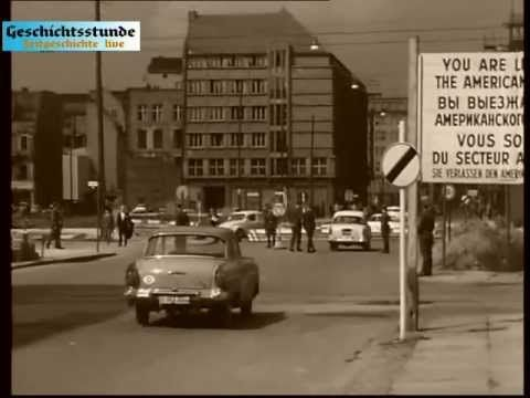 Mauerbau Berlin 13. August 1961 (unkommentiert) Zeitgeschichte live