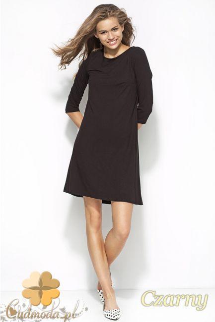 Damska sukienka dzianinowa z rękawem 3/4 marki Alore.  #cudmoda #moda #styl #odzież #ubrania #dla_kobiet #clothes #sukienki #dresses