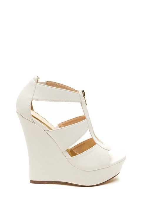 High Noon Faux Leather Wedges WHITE  The post  High Noon Faux Leather Wedges WHITE  appeared first on  Vintage & Curvy .  http://www.vintageandcurvy.com/product/high-noon-faux-leather-wedges-white