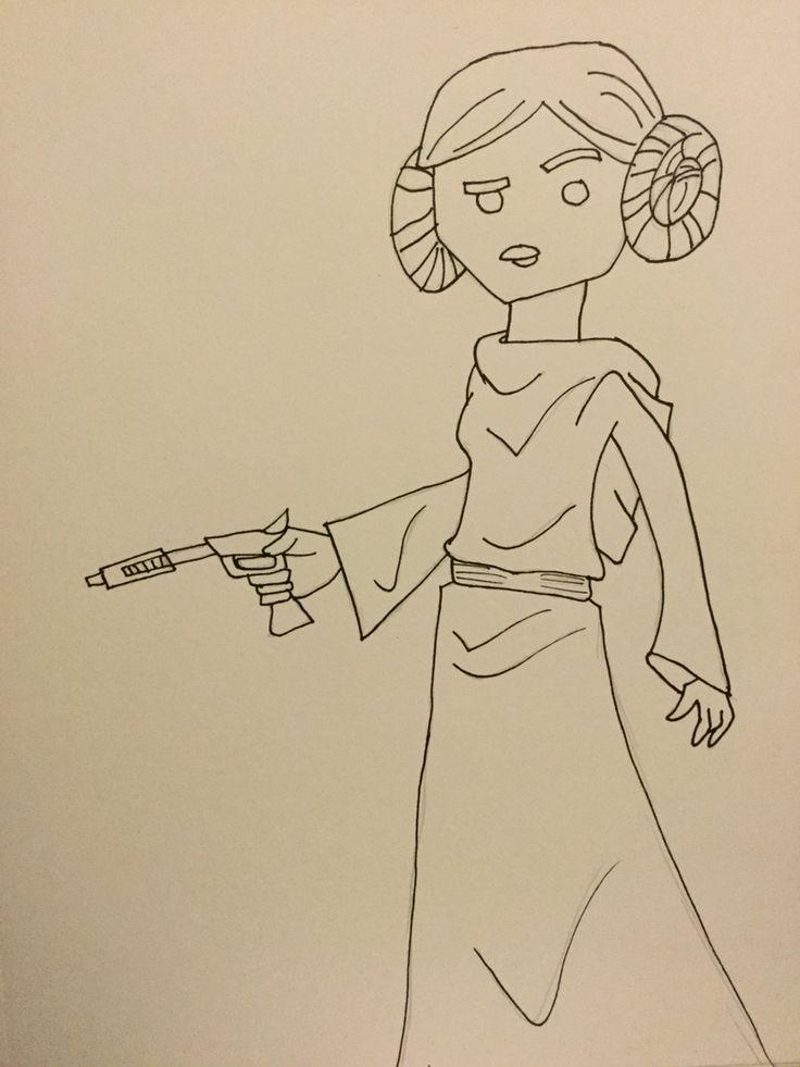 Princess Leai! Art by The King Sodapop Curtis