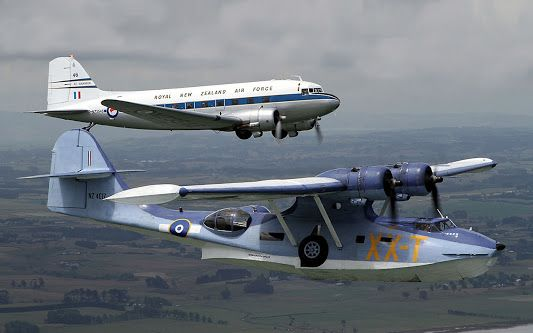 PBY Catalina and C-47 former RNZAF aircraft.