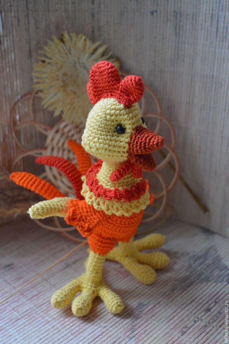 Купить Петушок вязаный. - петушок, петух, цыпленок, символ 2017 года, вязаный петушок, яркий