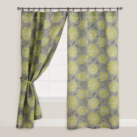 floral fortress bouquet jute ring top curtain world market