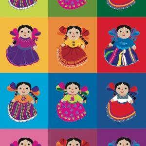 Libreta. Muñecas hechas a mano con manta y estambre de colores. Maria y Lupita son los nombres más comunes para llamarlas.