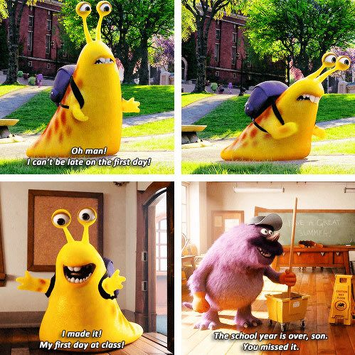 Monsters University; my worst fear come to life in an adorable monster