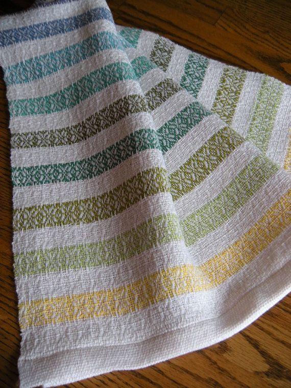 Hand Woven Guest Towel, Woven Organic Cotlin Towel, Handwoven Hand Towel, Woven  Kitchen Towel, Woven Tea Towel, Weaving, Rainbow Stripes