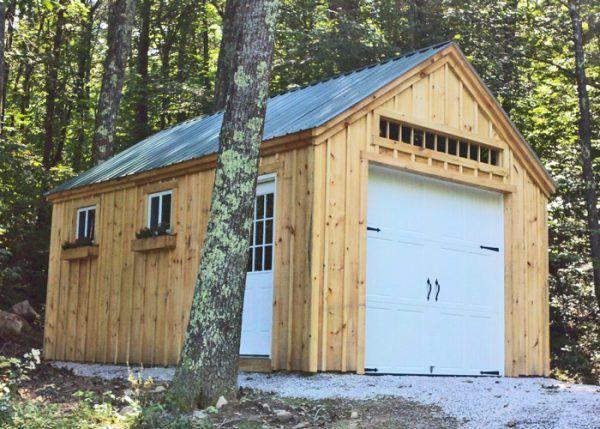 One Bay Garage Kit Single Car Garage Kit Jamaica Cottage Shop Outside Storage Shed Garage Building Plans Shed