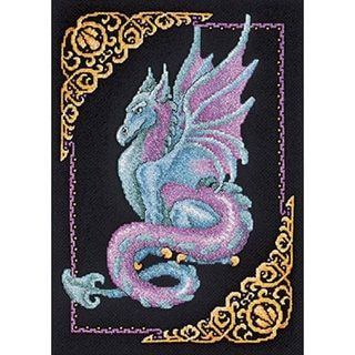 Mythical Dragon Counted Cross Stitch Kit - Free Shipping On Orders Over $45 - Overstock.com - 11436297 - Mobile