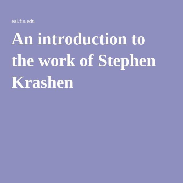 krashen's input hypothesis