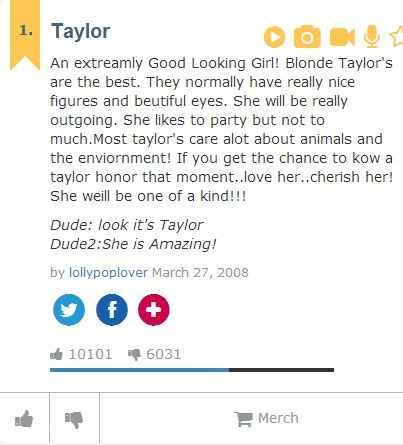 Taylor | The Meaning Of Your Name As Told By Urban Dictionary