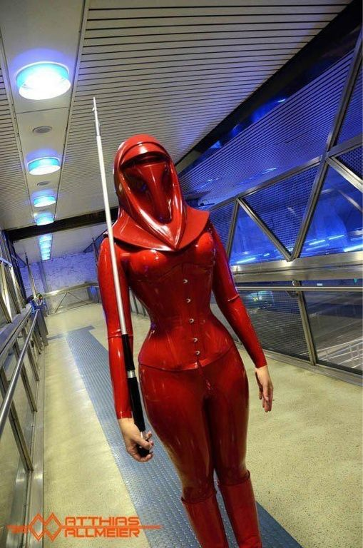 Remarkable #StarWars #latex costume complete with burka-style hood