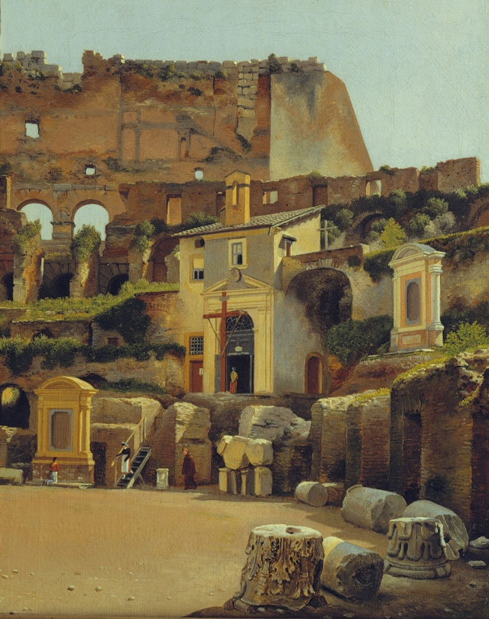 """El Coliseo"" by Christoffer Wilhelm Eckersberg (Danish, 1783-1853)"
