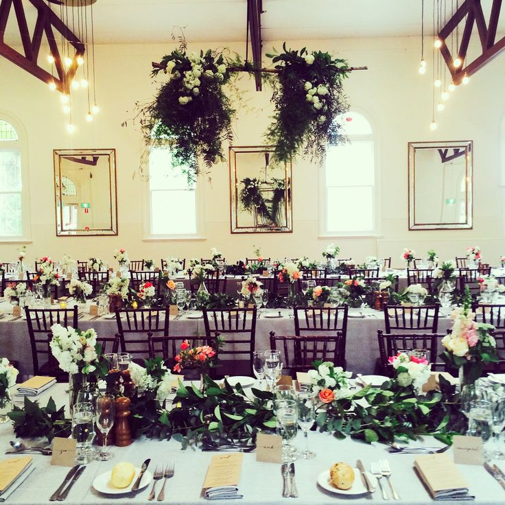 Table greens (yours will have gaps for platters) at Abbotsford. | by Flower Jar