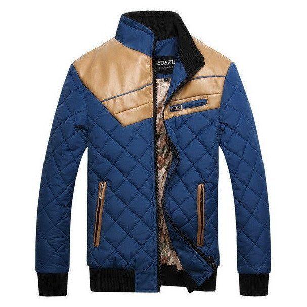 Faux Leather Patched Fleece Jacket (4 colors)