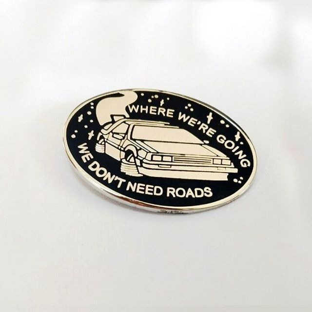 Image of Back to the Future lapel pin