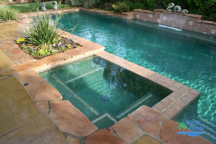 Inground spas 004 by wells pools agua pinterest for Ideas para piscinas