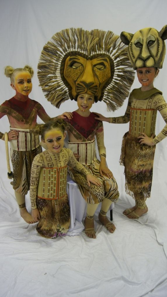 Studio shot for local performance of Lion King the musical. Simba and Nala Headress by The Puppet workshop