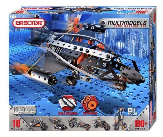 Amazon Com Erector Multi Model 10 Model Set 190 Pieces