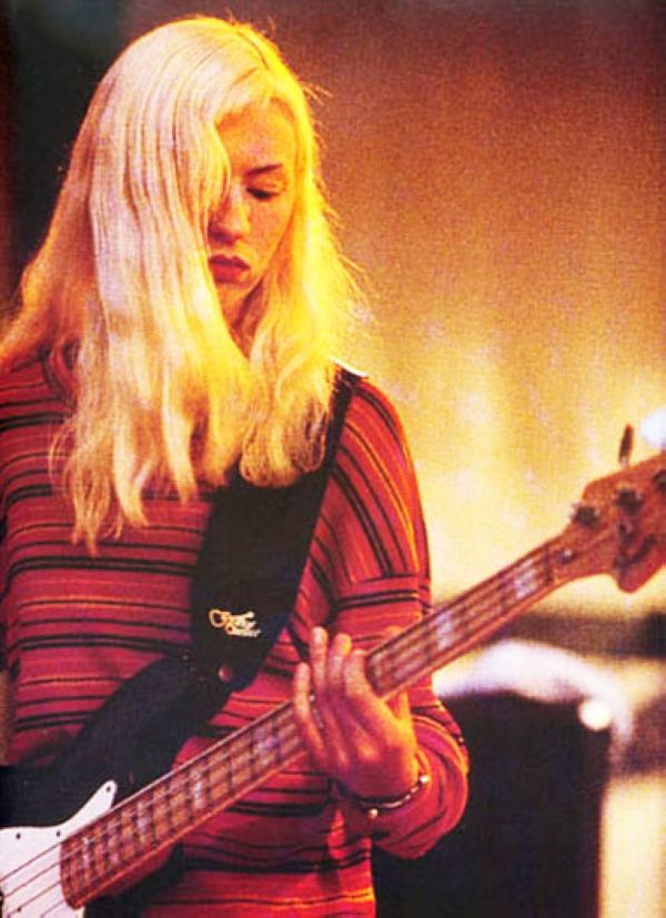 Former bassist of Smashing Pumpkins, D'Arcy Wretzky