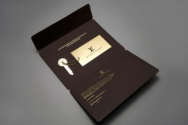 "Invitation for a Louis Vuitton event, with the theme ""hotel suite"". The custom golden key was the pass to enter to this event."