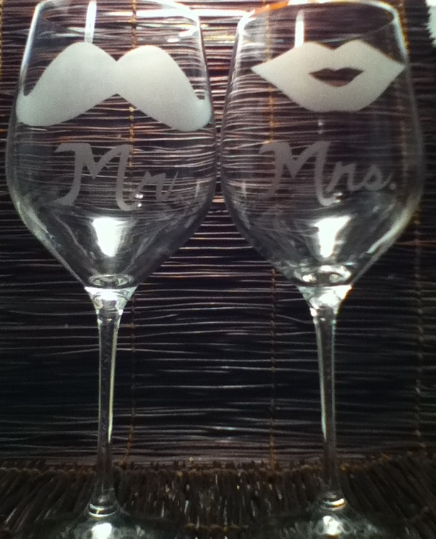 Mr & Mrs, I Also Etched The Wedding Date On The Base